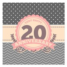 20th Anniversary Gift Chevr Invitations