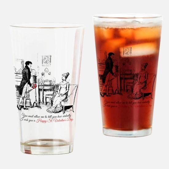 Ardently St. Valentine's Day Drinking Glass