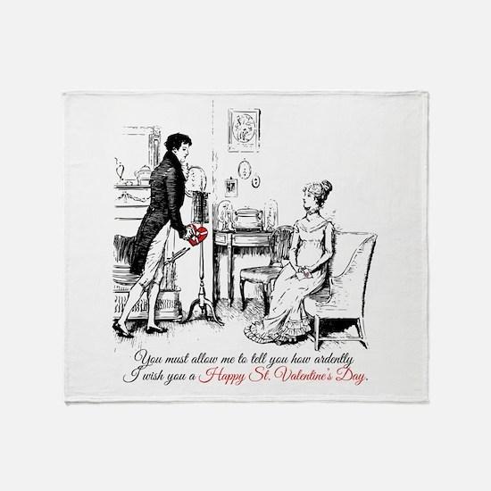 Ardently St. Valentine's Day Throw Blanket