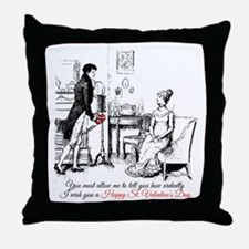 Ardently St. Valentine's Day Throw Pillow
