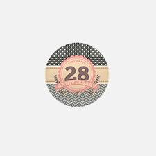28th Anniversary Gift Chevro Mini Button (10 pack)