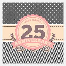 25th Anniversary Gift Chevr Invitations