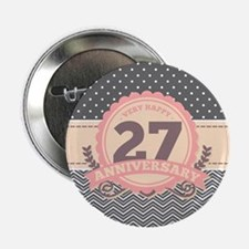 "27th Anniversary Gift Chevr 2.25"" Button (10 pack)"