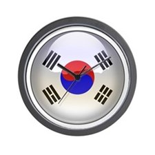 R Korea Flag Jewel Wall Clock