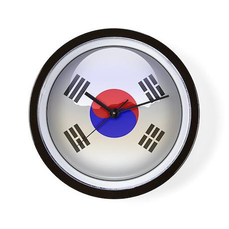 R Korea Flag Jewel Wall Clock