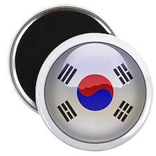 "R Korea Flag Jewel 2.25"" Magnet (10 pack)"