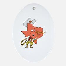 Cute Houston tx Oval Ornament
