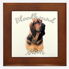 Bloodhound Mom2 Framed Tile