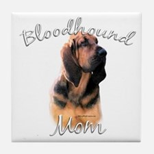 Bloodhound Mom2 Tile Coaster