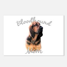 Bloodhound Mom2 Postcards (Package of 8)