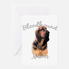 Bloodhound Mom2 Greeting Card