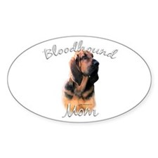 Bloodhound Mom2 Oval Decal