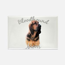 Bloodhound Mom2 Rectangle Magnet