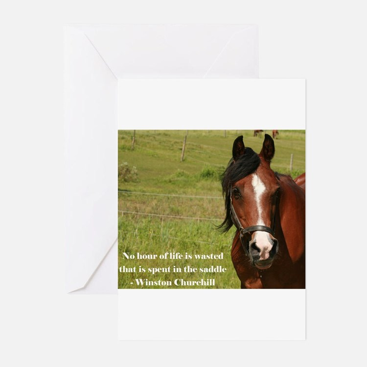 Cute Horse quote Greeting Cards (Pk of 20)