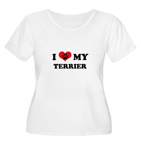 I Love My Terrier - Dog Breeds Women's Plus Size