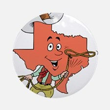 Texas toon Round Ornament