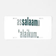 Assalamualaikum Aluminum License Plate