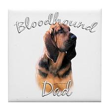 Bloodhound Dad2 Tile Coaster