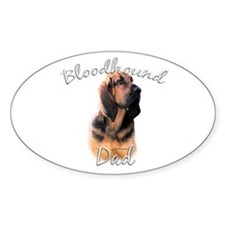 Bloodhound Dad2 Oval Decal