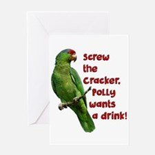 Smart Parrot Greeting Cards