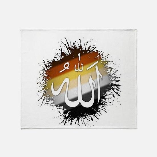 Cute Allah Throw Blanket