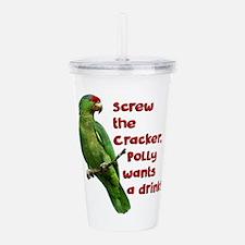 Smart Parrot Acrylic Double-wall Tumbler
