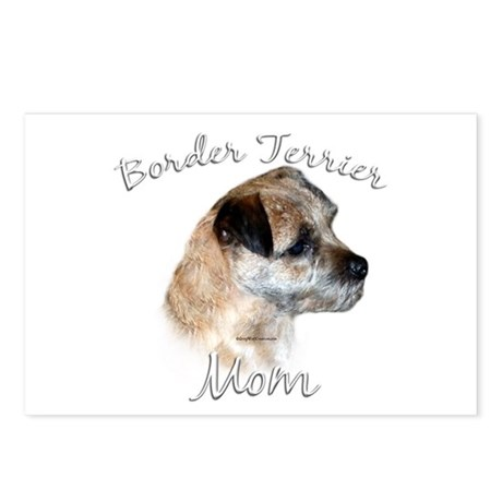 Border Terrier Mom2 Postcards (Package of 8)