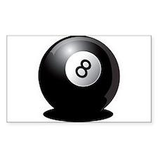8 Ball! Rectangle Decal