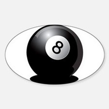 8 Ball! Oval Decal