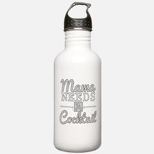 Mama Needs A Cocktail Sports Water Bottle