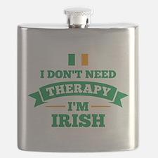 No Therapy I'm Irish Flask