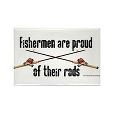Fisherman are proud of their Rectangle Magnet