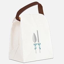Wedding Knife & Server Canvas Lunch Bag