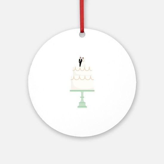 Wedding Cake Round Ornament