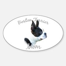Boston Mom2 Oval Decal