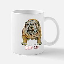 Bulldog Bite Me Mugs