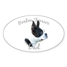 Boston Dad2 Oval Decal