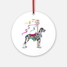 Great Dane Merle UC Carousel Ornament (Round)