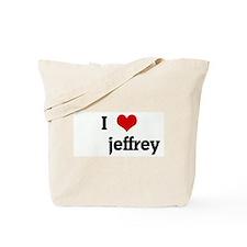 I Love       jeffrey Tote Bag