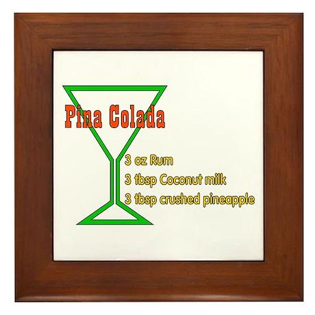 Pina Colada Framed Tile