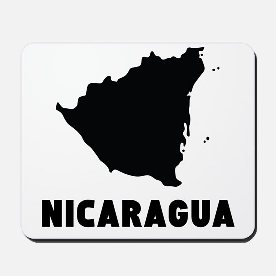 Nicaragua Silhouette Mousepad