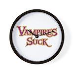 Vampires Suck Halloween costu Wall Clock