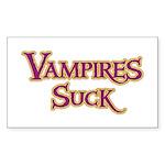 Vampires Suck Halloween costu Sticker (Rectangular