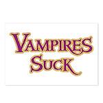 Vampires Suck Halloween costu Postcards (Package o
