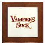 Vampires Suck Halloween costu Framed Tile
