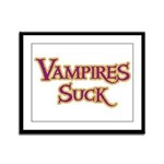 Vampires Suck Halloween costu Framed Panel Print