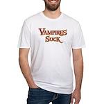 Vampires Suck Halloween costu Fitted T-Shirt