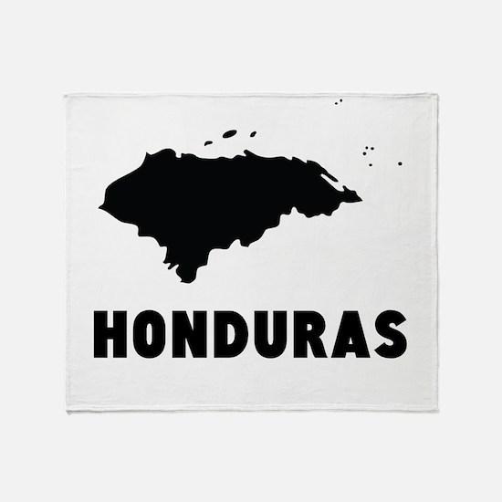 Honduras Silhouette Throw Blanket