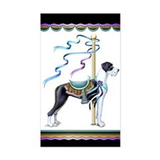 Great Dane Mantle UC Carousel Sticker (Rectangular