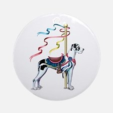 Great Dane Harle UC Carousel Ornament (Round)